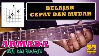 ARMADA - Asal Kau Bahagia (DARI C MAYOR) | Tutorial Kunci Gitar Versi Mudah