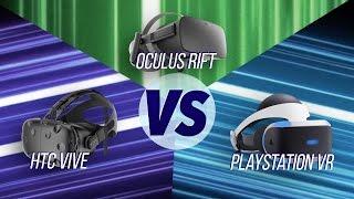 Video The Best VR Headset? HTC Vive vs Oculus Rift vs PS VR MP3, 3GP, MP4, WEBM, AVI, FLV Juli 2018