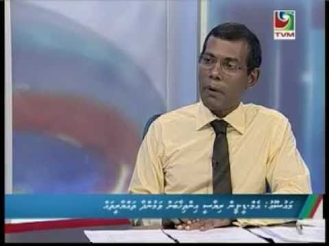nasheed - Raajje Miadhu - 16 May 2013 - President Mohamed Nasheed.