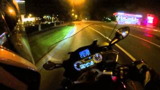 8. BMW K1600GT Sport chased by 7 sportbikes