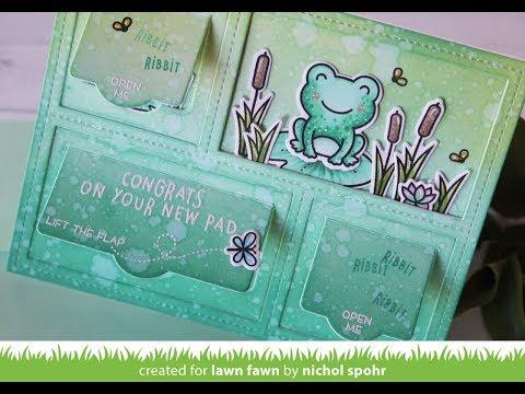 Lawn Fawn | Peekaboo Backdrop Interactive Flaps New Home Card (видео)