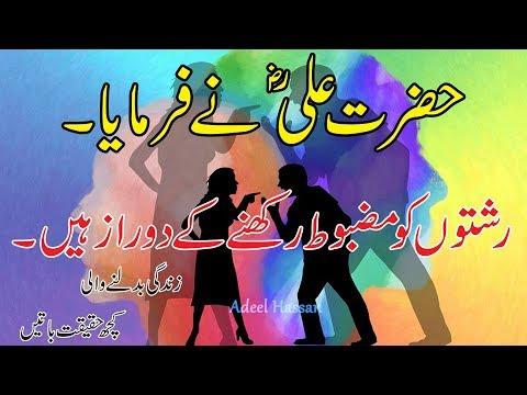 Amazing Urdu QuotesBest Urdu Sad QuotesHazrat Ali R.A best quotesUrdu AqwalAdeel HassanQuotes