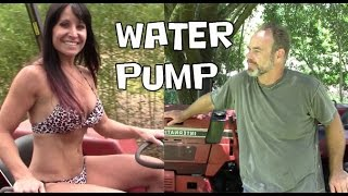 6. How to replace or repair the water pump in the International 244 tractor