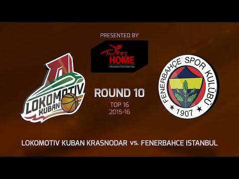 Highlights: Top 16, Round 10, Lokomotiv Kuban Krasnodar 52-55 Fenerbahce Istanbul