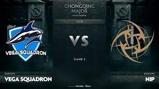 Vega Squadron vs Ninjas In Pyjamas, Game 2, EU Qualifiers The Chongqing Major
