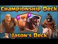 foto Clash Royale - Championship Deck & Strategy for Arena 6+ | Jason's Giant + Hog Rider Tournament Deck Borwap