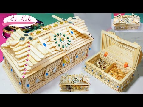 How to Make jewelry box popsicle stick crafts