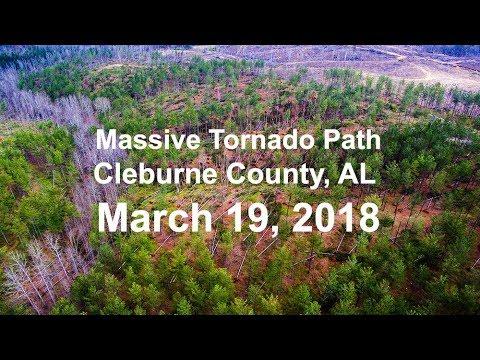 Cleburne County Alabama Tornado Damage March 19, 2018_Legjobb videók: Időjárás, vihar videók
