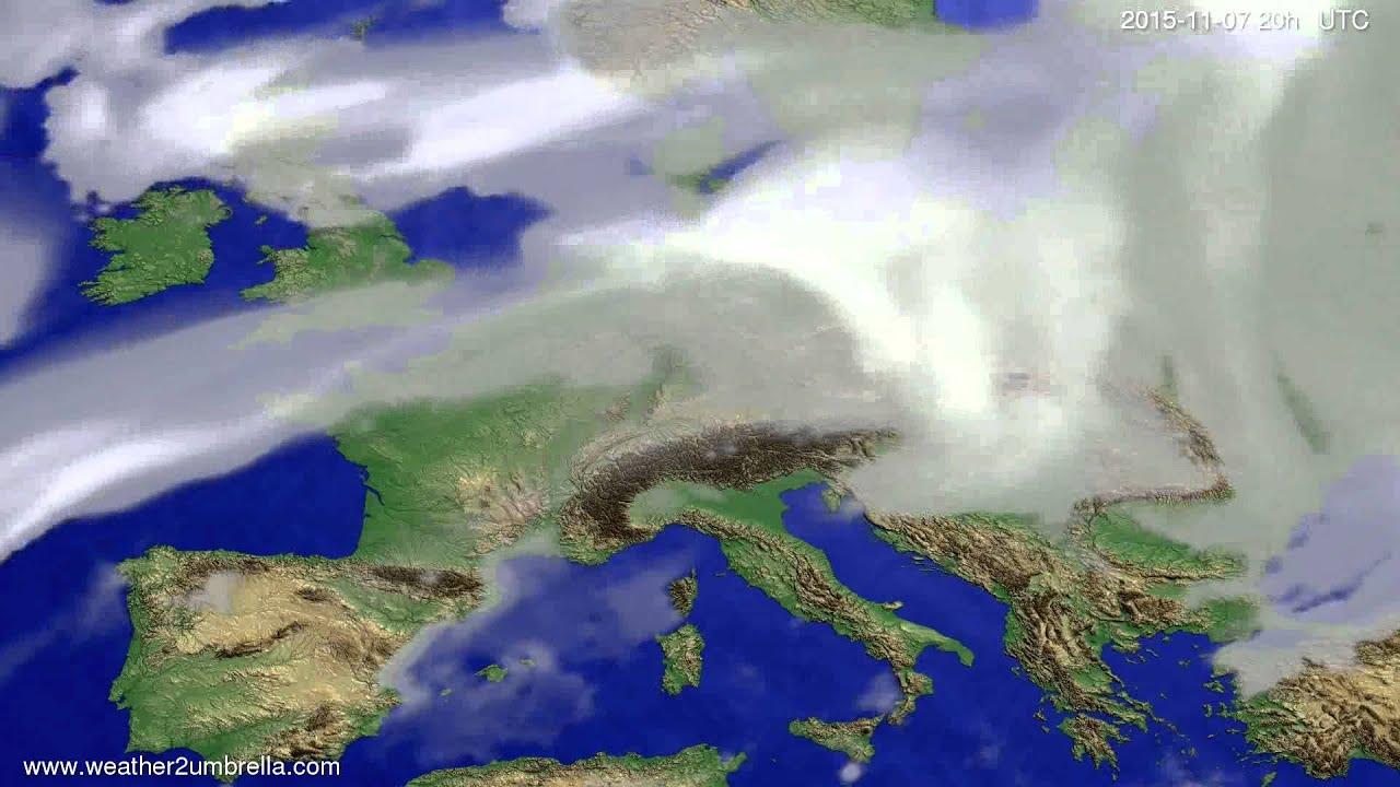 Cloud forecast Europe 2015-11-05