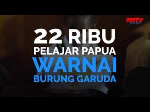 22 Ribu Pelajar Papua Warnai Burung Garuda