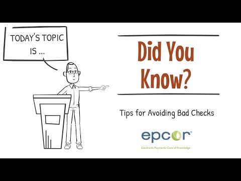 Tips For Avoiding Bad Checks