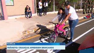 Marília: crianças aprendem sobre o trânsito em mini cidade