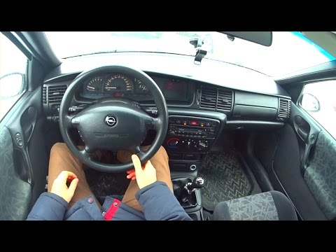 1997 Opel Vectra B. 1.8. City Driving.