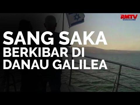 Sang Saka Berkibar di Danau Galilea