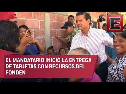 Peña Nieto reparte apoyos en Morelos para reconstrucción de viviendas