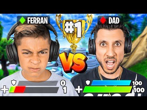 1v1 Vs My Dad For 100,000 V-Bucks! 😱| Royalty Gaming