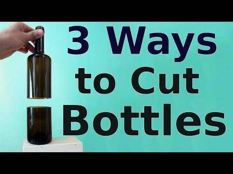 How to cut glass bottles 3 ways to do it free video and for How to cut glass bottles lengthwise