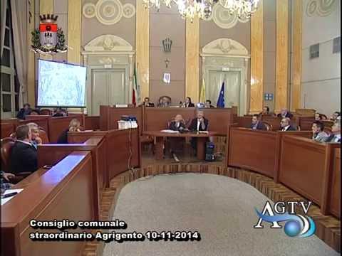 Consiglio comunale straordinario Agrigento 1a parte 10-11-2014