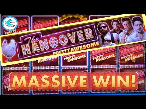 *HUGE WIN!* – The Hangover Pretty Awesome Slot Machine – Drunk Bonuses & Big Wins!!