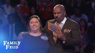 Video Brittany must get 3 points with her FINAL ANSWER! | Family Feud MP3, 3GP, MP4, WEBM, AVI, FLV Desember 2018