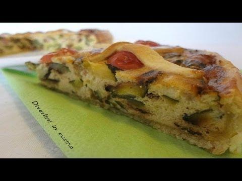 video ricetta: gustosissima torta salata con speck e zucchine