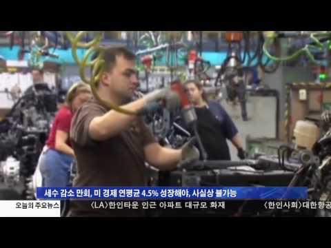 세수감소 10년간 7조달러 전망 4.27.17 KBS America News