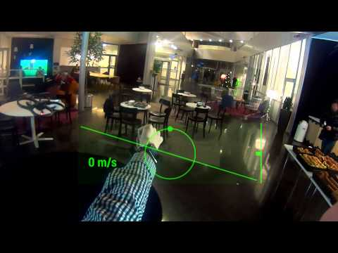 Control a drone with SmartEyeglass and SmartWatch 2