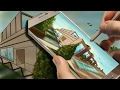 Landscape Drawing in Time Lapse using INFINITE PAINTER