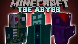 Minecraft : THE ABYSS DIMENSION (DIMENSION, STRUCTURES, BOSS, BIOME) AbyssalCraft Mod Showcase