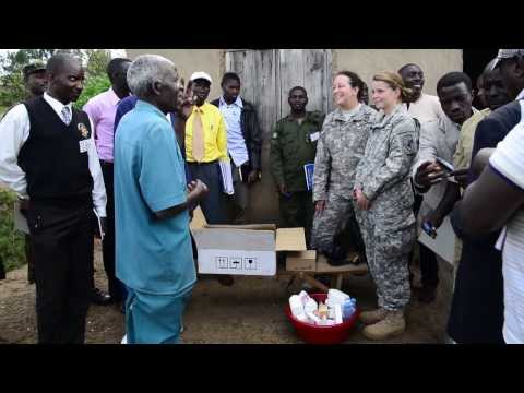A team of CJTF-HOA soldiers from the 443rd Civil Affairs Battalion shared best practices with the Ugandan animal and health care professionals as part of a One Health Initiative.