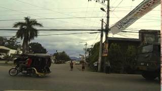 Mati Philippines  City pictures : Driving through Town in Mati Philippines
