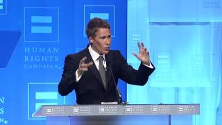 Dustin Lance Black at the 2012 HRC National Dinner