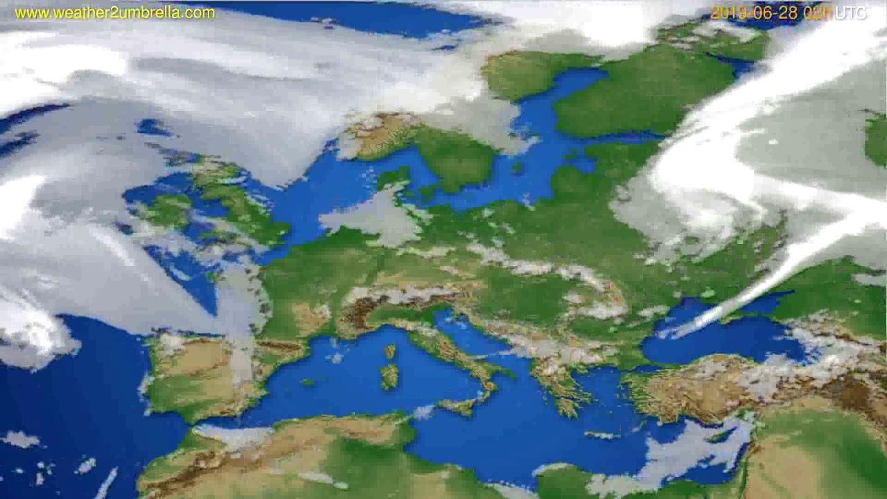 Cloud forecast Europe // modelrun: 00h UTC 2019-06-26