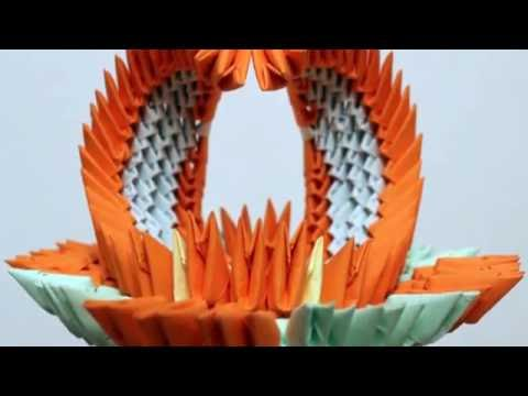3D origami decorative vase