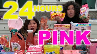 Video 24 HOURS EATING ONLY PINK FOOD CHALLENGE MP3, 3GP, MP4, WEBM, AVI, FLV Juni 2019