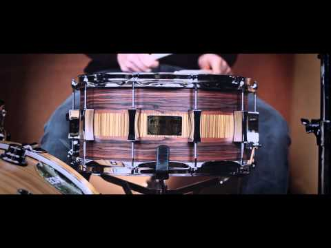 Pork Pie 14x7 Rosewood/Zebrawood over Maple Shell Snare Drum