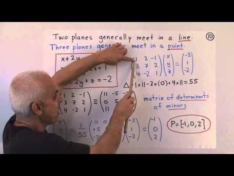 WildLinAlg10: Gleichungen von Linien und Flächen in 3D