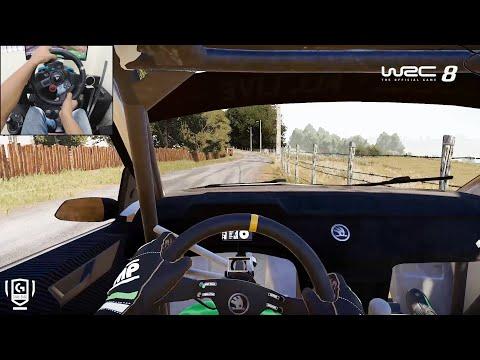 Skoda Fabia R5 - WRC 8 FIA World Rally Championship | Logitech g29 gameplay