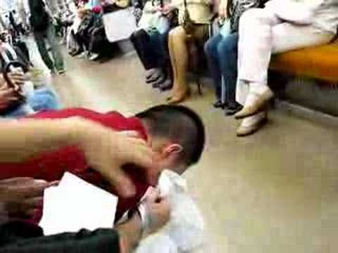 Train Puke in Japan part.2 (видео)