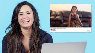Video Demi Lovato Watches Fan Covers On YouTube | Glamour MP3, 3GP, MP4, WEBM, AVI, FLV Agustus 2018