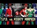 WWE 2K16 - POWER RANGERS 6 MEN MATCH (S.P.D. vs Mighty Morphin)