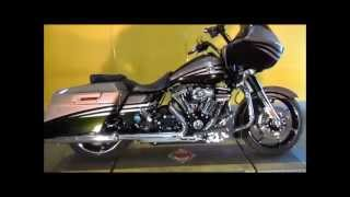 8. 2013 Harley-Davidson CVO Road Glide Custom FLTRXSE2 Roman Gold & Burnt Emerald with Edge Graphics