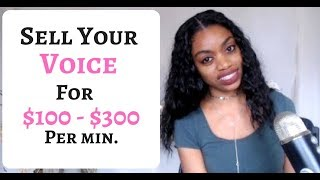 Video How To Sell Your Voice And Make $100 - $300 Per Minute! MP3, 3GP, MP4, WEBM, AVI, FLV Agustus 2019