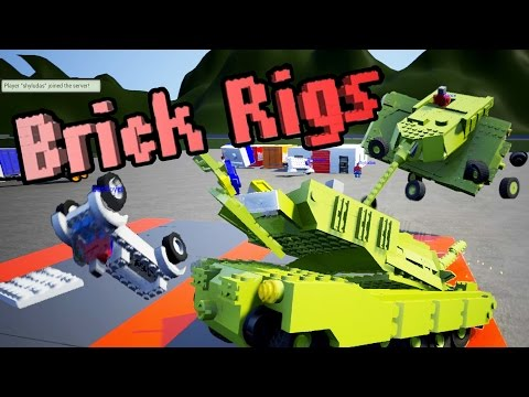 MULTIPLAYER UPDATE – Funny Race Track Moments + Brick Rigs Workshop Creations – Gameplay Highlights