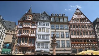 More info about travel to Frankfurt: https://www.ricksteves.com/europe/germany/frankfurt Frankfurt's Kleinmarkthalle is a delightful neighborhood favorite. Just around the corner is Römerberg, Frankfurt's old main square, lined with half-timbered buildings.At http://www.ricksteves.com, you'll find money-saving travel tips, small-group tours, guidebooks, TV shows, radio programs, podcasts, and more on this destination.