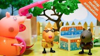 СВИНКА ПЕППА  Угощает мороженным друзей. Мультик из игрушек Peppa Pig на русском. [720p]