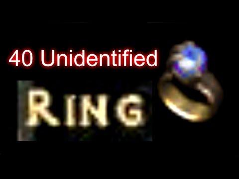 40 Unidentified Unique Rings - Diablo 2