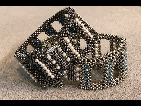 Many Moons Reversible Cuff - A Bronzepony Beaded Jewelry Design