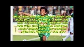 """Video Andik bilang """"kalaupun main di Indonesia, Saya hanya mau main untuk Persebaya"""" MP3, 3GP, MP4, WEBM, AVI, FLV Desember 2017"""