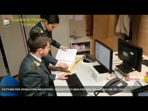 FATTURE PER OPERAZIONI INESISTENTI, SEQUESTRATI BENI PER 500 MILA EURO | 06/07/2020